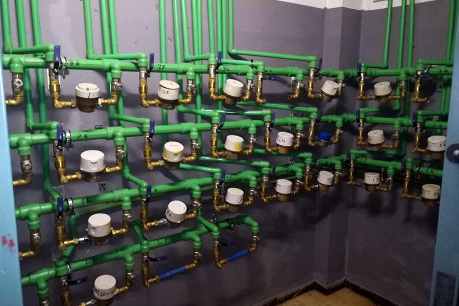 Fabricación y montaje de Centralizaciones de Contadores de Agua fría